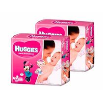 2 Superpack Pañales Huggies Princesas Active Sec Mediano