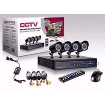 Kit Seguridad 4 Camaras Exterior 700 Tvl + Cable + Disco 1tb