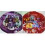 10 Globos Metalizados Monster High Draculaura + 10 Varillas