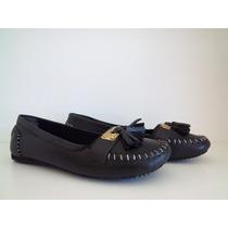 Zapatos Chatitas De Cuero C/fleco Praxis Comodisimas