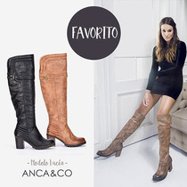 Botas Mujer Invierno Zapatos Anca Y Co Bucanera Alta Lucia