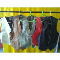 Chalecos De Cuero Varios Talles Y Colores