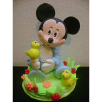 Centro De Torta Minnie Mickey Bebé,nacimiento,primer Añito