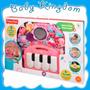Fisher Price Kick & Play Piano Pañalera Baby Kingdom. Rosa