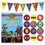 Kit Imprimible Superheroe Avengers Marvel Cumpleaños Candy