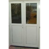 Puerta doble hoja de aluminio aberturas puertas en pisos for Puerta doble hoja exterior