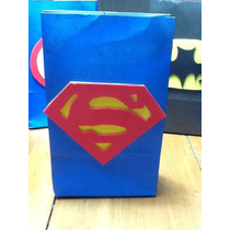 Bolsitas Superman Artesanales Pack 5 Unid
