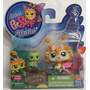 Littlest Pet Shop Pack 2 Figuras De Listening Garden Unico!