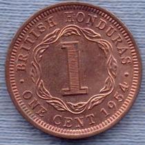 Honduras Britanicas 1 Cent 1954 * Colonia Inglesa *