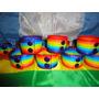 Pulseras Del Orgullo Gay Lgbt Anchas (2 Botones) - Pack X 10