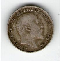 Argentvs * Gran Bretaña Moneda De 3 Pence 1906 Eduardo Vii