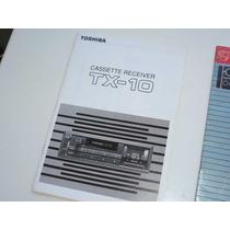 Manual Estereo Toshiba Tx-10 Cassette Auto Caballito