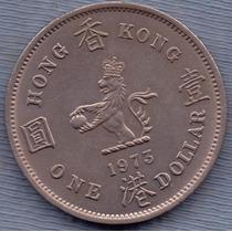 Hong Kong 1 Dollar 1973 * Colonia Inglesa * Elizabeth Ii *