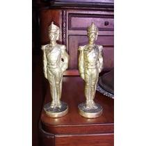 Antiguas Figuras De Bronce De Granaderos (x Transferencia)