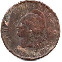 Moneda Antigua Argentina.2 Centavos 1888.impecable Y Hermoso