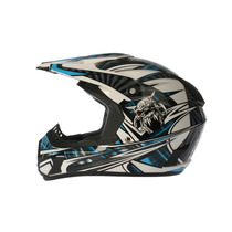 Casco Zpf Motocross Azul L Dp906