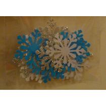 Copos De Nieve Frozen Troquelados En Papel Y Goma Eva
