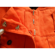 Pantalon Mujer Gabardina Naranja - Fabiola Alonso - Talle 2