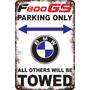Carteles Antiguos60x40cm Parking Only Moto Bmw F800gs Pa-19