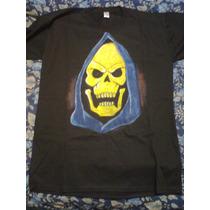 Skeletor, Remera Artesanal, Motu, Pintada A Mano X L