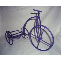 Centro De Mesa Bicicleta En Hierro