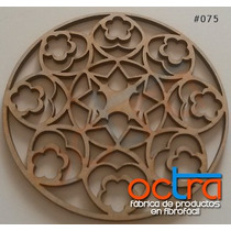 Figuras Mandalas De Madera 30 Cm X 10 Unidades