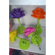 Lapicera Flor De Goma Eva, Estrela, Corazon Ideal Souvenirs