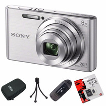 Sony W830 Reemp. W730 20.1mp Hd+ Lector+ 16gb+ Funda+ Trip!!