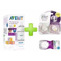Avent Set Recién Nacido Mamadera Natural +2 Chupetes+tetinas