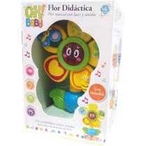 Flor Didáctica Musical Con Luces Y Sonido Ok Baby