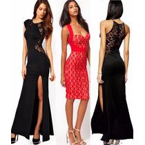 Vestido Fiesta Noche Largo 3 Modelos A Todo El Pais