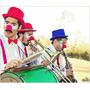 Orquesta De Payasos-zancos-mozo Loco Aceptamos Tarjetas