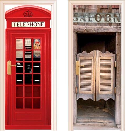 Vinilos decorativos para puertas envios a caba desde 30 for Vinilos decorativos puertas