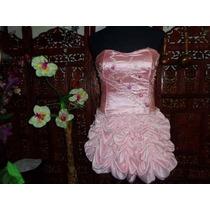 Vestido De 15 Pollera Globo Y Corse Bordado