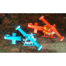 2 Helicopteros Antiguos Juguete Hojalata Chapa Japones