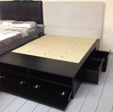 Super cama 2 plazas con 4 cajones y 2 botineros increible for Cama 3 4 medidas