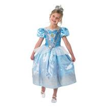 Disfraz De Cenicienta Disney Con Tiara De Strass Y Badanas