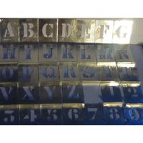 Juego Letras Y Numeros Aluminio,34 Piezas,3,5cm Alto,nuevos