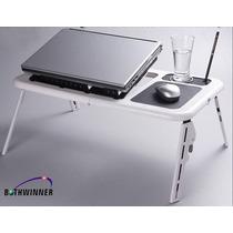 Mesa Base Porta Notebook O Netbook, Con Doble Cooler