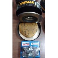 Kit Discos Solido Fremax+pastillas Frasle Ford Fiesta Ka 1.3