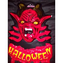 Halloween Mural Demonio Rojo Plastico