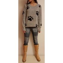 Sweater Pullover Huellitas De Perro