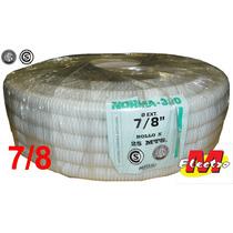 Caño Corrugado 7/8 Blanco Norma 720 X 25mts Electro Medina