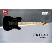 Guitarra Eléctrica Esp By Ltd Te212 ¿ Negra - Envío Gratis