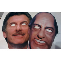 Careta Macri Scioli Cotillon Disfraz Halloween Mascara Selfi