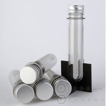 Tubos De Ensayo Plasticos Para Souvenirs Con Tapa X 30 Unid