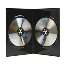 100 Estuches Dvd Dobles 14mm Negros Resistentes Y De Calidad