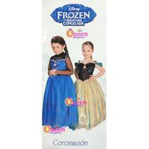 Disfraz Elsa Frozen Vestido De Coronacion Novedad!! Original