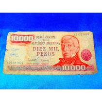 El Arcon Billete Argentino Moneda Nacional 10000 Pesos 38501