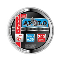 Balines Profesionales Apolo Pointed Cal. 6,35 Lata 200 Unid.